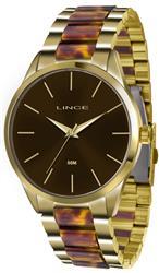 Relógio Feminino Lince Analógico LRT4381L N1NK Dourado