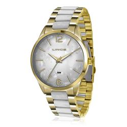 Relógio Feminino Lince Analógico LRT4382L B2BK Dourado
