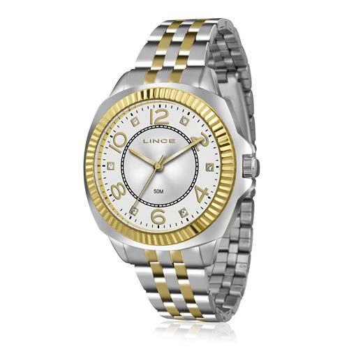 Relógio Feminino Lince Analógico LRTJ060L B2SK Aço Misto