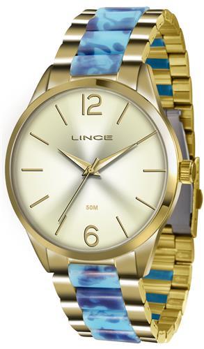 Relógio Feminino Lince Analógico LRT4443L C2KA Dourado