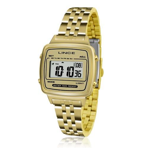 Relógio Feminino Lince Digital SDPH041L BCKX Dourado
