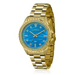 Relógio Feminino Lince Analógico LRGJ059L KU31 Kit Colar e Par de Brincos
