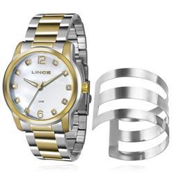 Relógio Feminino Lince Analógico LRT4391L K192 Kit Bracelete