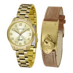 Relógio Feminino Lince Analógico LRG4459L KT77 Kit Pulseira em Couro