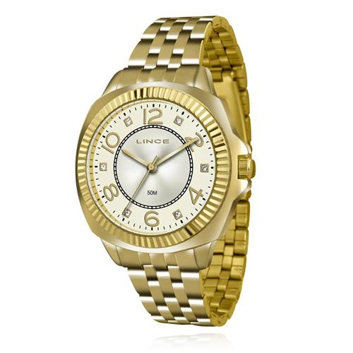 Relógio Feminino Lince Analógico LRGJ060L KU30 Kit Colar e Par de Brincos