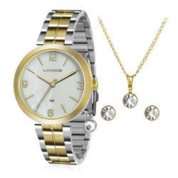 Relógio Feminino Lince Analógico LRT4458L KT67 Kit Colar e Par de Brincos