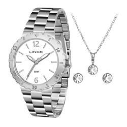 Relógio Feminino Lince Analógico LRMH036L KT99 Kit Colar e Par de Brincos