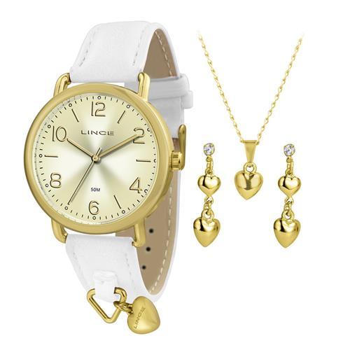 Relógio Feminino Lince Analógico LRC4451L KT59 Kit Colar e Par de Brincos