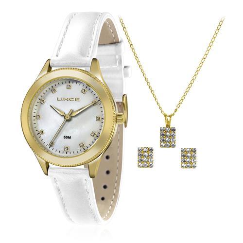 Relógio Feminino Lince Analógico LRC4395L KT15 Kit Colar e Par de Brincos