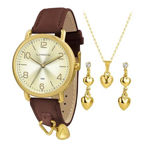 Relógio Feminino Lince Analógico LRC4451L KT61 Kit Colar e Par de Brincos
