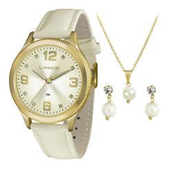 Relógio Feminino Lince Analógico LRC4396L KT21 Kit Colar e Par de Brincos