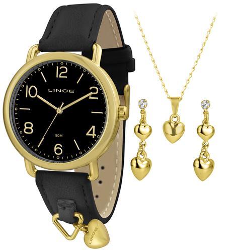 e36796e3e4e Relógio Feminino Lince Analógico LRC4451L KT62 Kit Colar e Par de Brincos