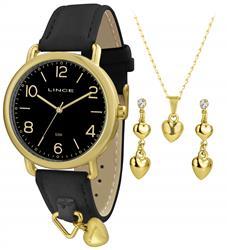 Relógio Feminino Lince Analógico LRC4451L KT62 Kit Colar e Par de Brincos