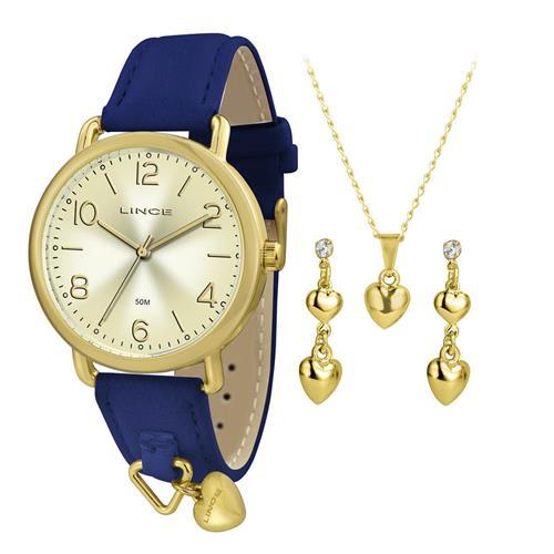 Relógio Feminino Lince Analógico LRC4451L KT60 Kit Colar e Par de Brincos