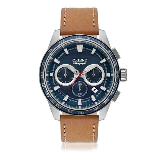 Relógio Masculino Orient Analógico MBSCC046 D1MX Couro
