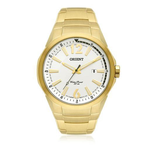 Relógio Masculino Orient Analógico MGSS1120 S2KX Dourado