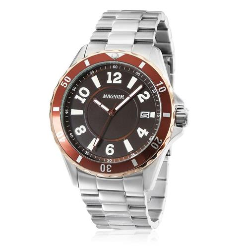 Relógio Masculino Magnum Analógico MA34521R Aço 7e22d18254