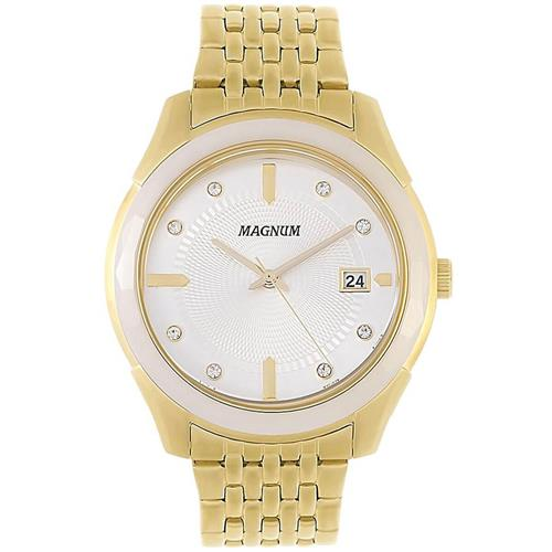 9275d478645 Relógio Feminino Magnum Analógico MA28832H Dourado