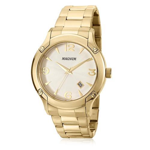 Relógio Masculino Magnum Analógico MA21937H Dourado 9b269d3f5b
