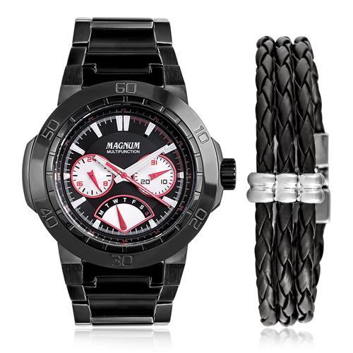 Relógio Masculino Magnum Analógico MA32694C Kit com Pulseira