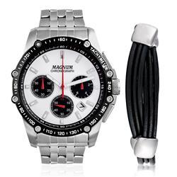 Relógio Masculino Magnum Analógico MA33522D Kit com Pulseira