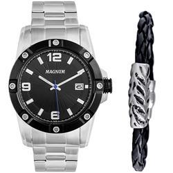 126d8f51538 Relógio Masculino Magnum Analógico MA34709C Kit com Pulseira