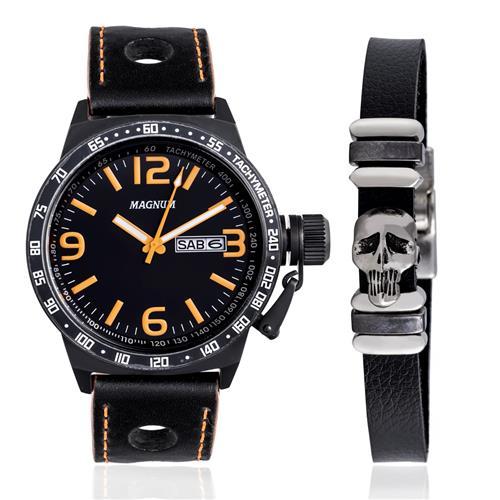 ba7ed09e3a8 Relógio Masculino Magnum Analógico MA31542C Kit Pulseira
