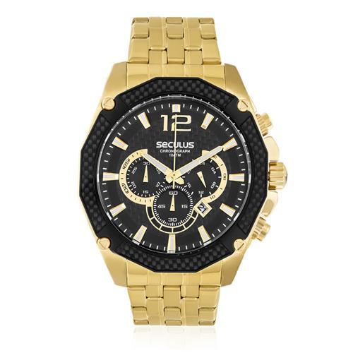 a274b3cdd49 Relógio Masculino Seculus Chronograph 20247GPSVDA3 Dourado