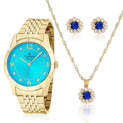Relógio Feminino Champion Passion CN25323Y  Kit Colar e Par de Brincos