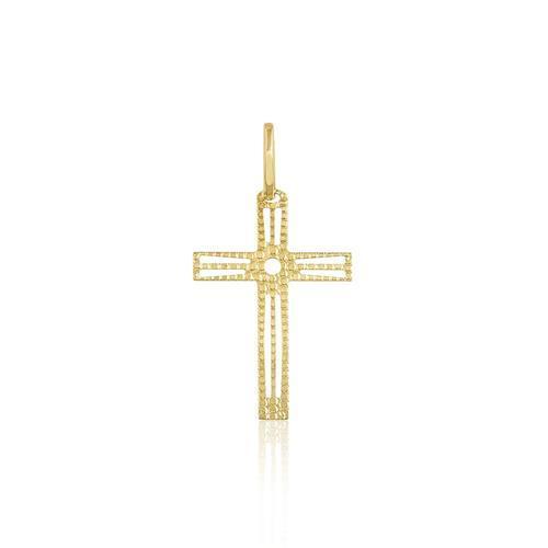 Pingente Cruz em Ouro Amarelo abb0f379ec