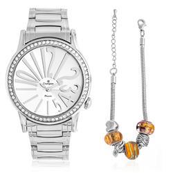 Relógio Feminino Champion Analógico CH25936Y Kit Pulseira Berloqueira