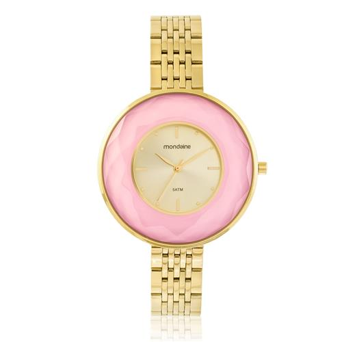 Relógio Feminino Mondaine Analógico 99276LPMVDE3 Fundo Rosa