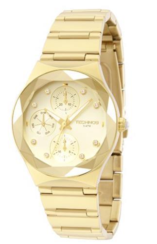 Relógio Feminino Technos Elegance Crystal 6P27DQ 4X Dourado   Joias Vip 242c24cf06