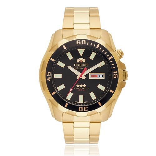 Relógio Masculino Orient Automático Ref 469GP078 P1KX Dourado