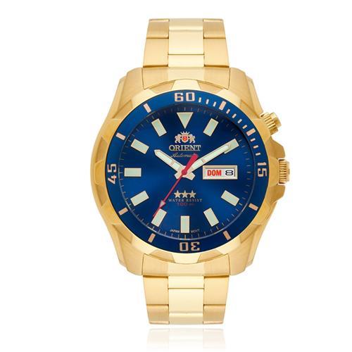 758e6a12882 Relógio Masculino Orient Automático 469GP078 D1KX Dourado