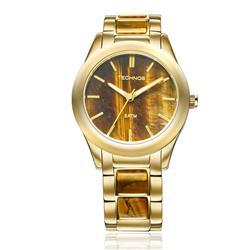 Relógio Feminino Technos Stone Collection Olho de Tigre 2033AD/4M