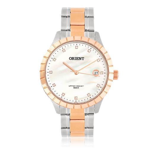 Relógio Feminino Orient Swarovski FTSS115 B1SR Misto   Joias Vip 640dbeb950