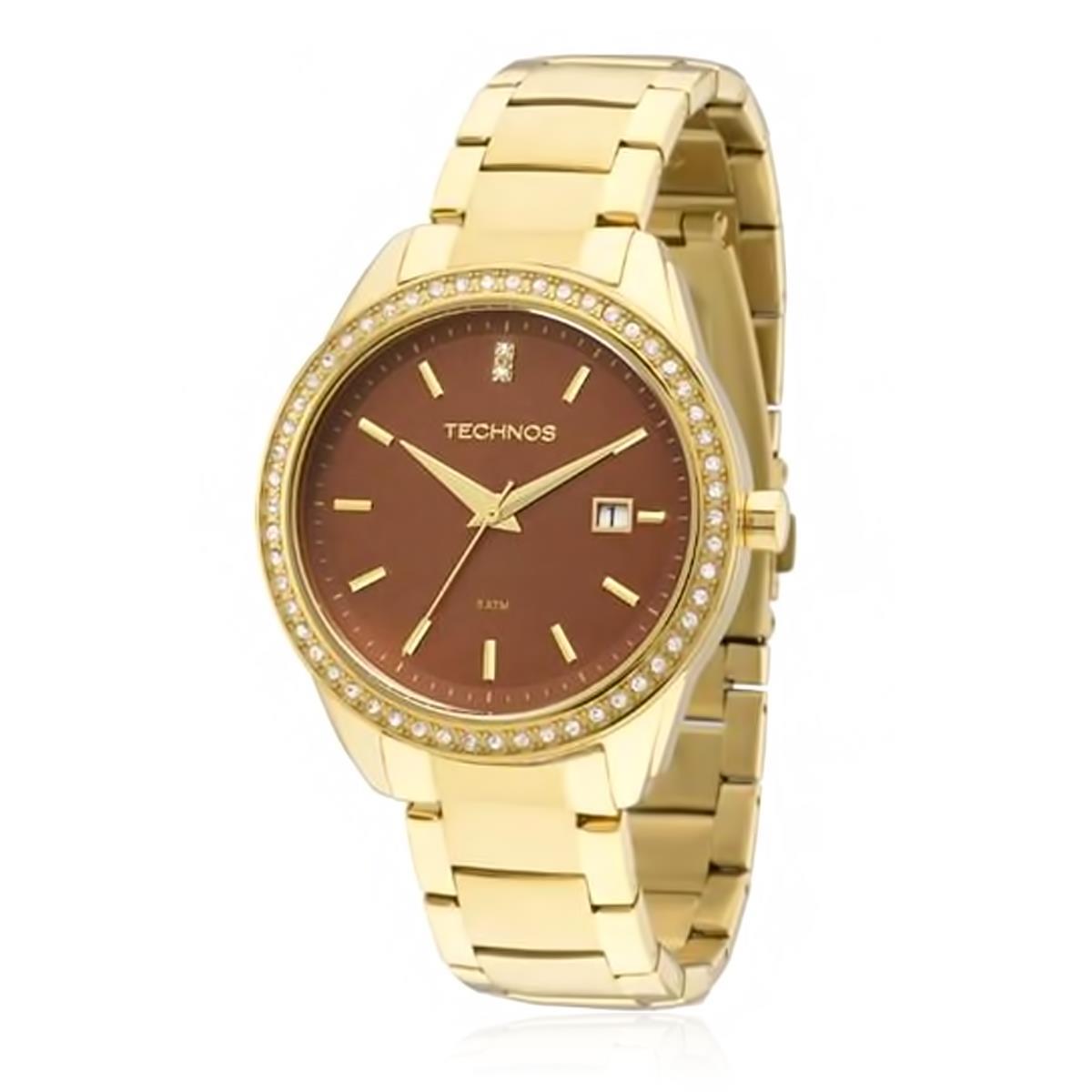 Relógio Feminino Technos Ladies Analógico 2115KQY 4M Cristais 2f1f97048a