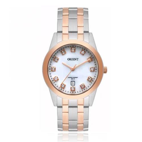 Relógio Feminino Orient Swarovski FTSS1113 B1SR Aço Misto 68ea88c1ba