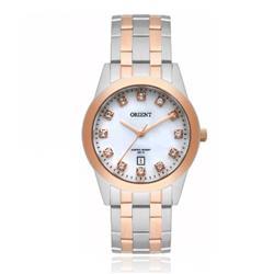 Relógio Feminino Orient Swarovski FTSS1113 B1SR Aço Misto