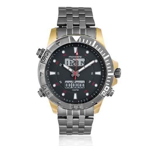 Relógio Masculino Mondaine Chronograph 99082GPMVJA2 Aço
