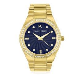 Relógio Phillip Kollin Malta Gold Blue