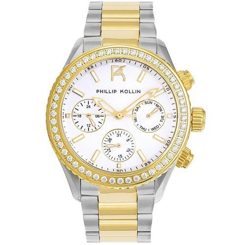 5ac10747e01 Relógio Feminino Phillip Kollin Monte Carlo ZY28145S Mixed Gold Silver