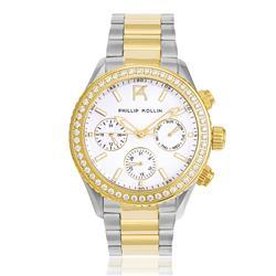 Relógio Feminino Phillip Kollin Monte Carlo Mixed  ZY28145S Gold Silver