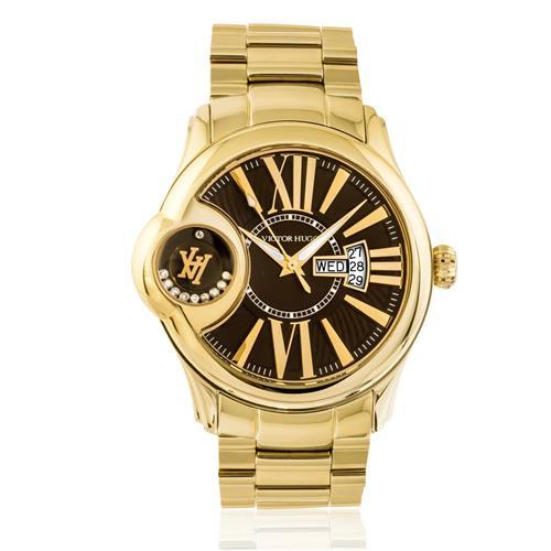 04adac323 Relógio Victor Hugo Diamonds VH11096LSG/12M Dourado