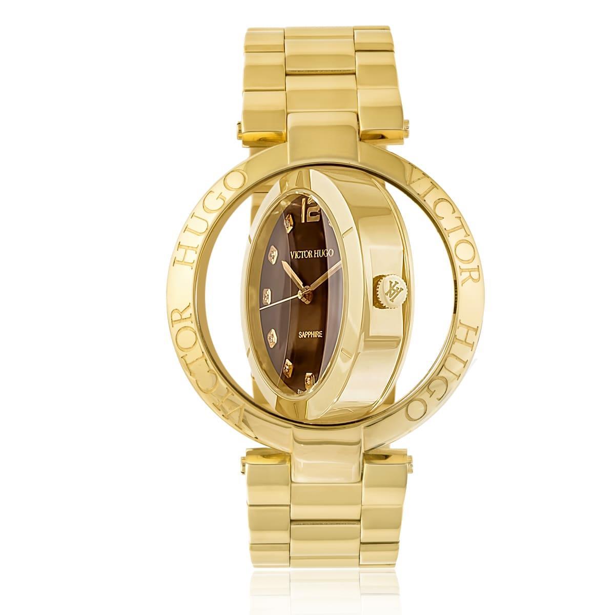 6f552e05106 Relógio Feminino Victor Hugo Diamonds VH11127LSG 40M Dourado