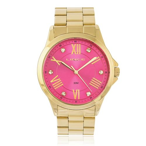 Relógio Feminino  Lince Analógico LRGJ046L R3KX Dourado