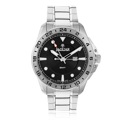 b95656d6e8d Relógio Masculino Jaguar GMT J011ASS01 G1SX Aço Caixa preta