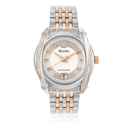7bea4c9ac62 Relógio Feminino Bulova Precisionist Diamond WB27529S Misto