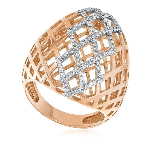 Anel Trabalhado com 111 Diamantes totalizando 1,0 Ct., em Ouro Rose